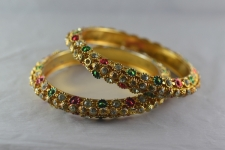 Gold-plated-colored-bangles