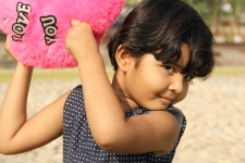 Little-Indian-girl-with-pillow