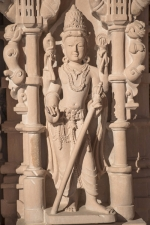 Sculpture on external wall, Swaminarayan mandir