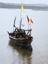 A-small-ship-sailing-in-river